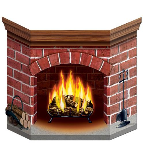 Case of [12] Brick Fireplace Stand-Up