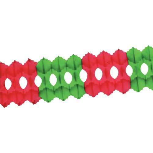 Case of [12] Packaged Arcade Garland - Red & Green
