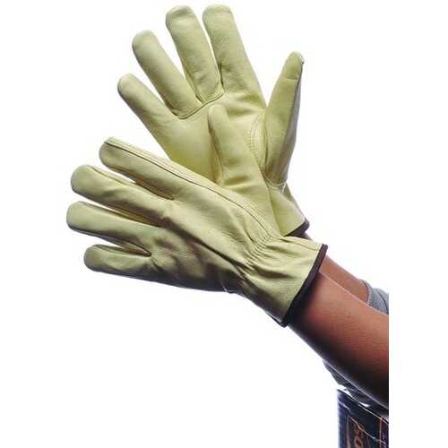 Case of [120] Leather Pig Skin Driver Gloves with Lining Small