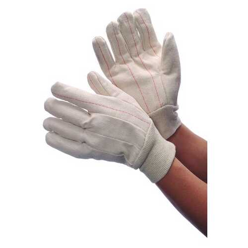 Case of [120] Double Palm Canvas Hot Mill Gloves with Red Wrist