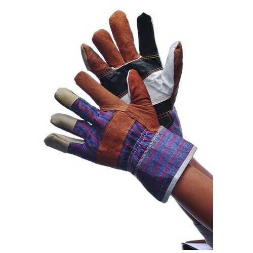 Case of [120] Multi Color Leather Work Gloves