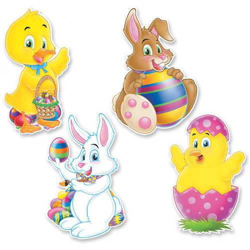 Case of [24] Packaged Easter Cutouts - Printed 2 Sides #62044