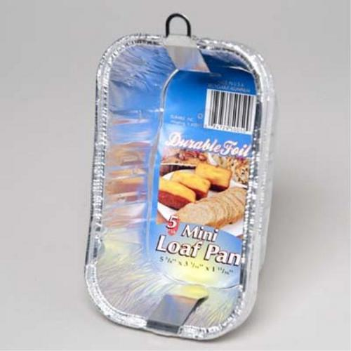 Case of [24] Mini Aluminum Loaf Pan - 5 Pack