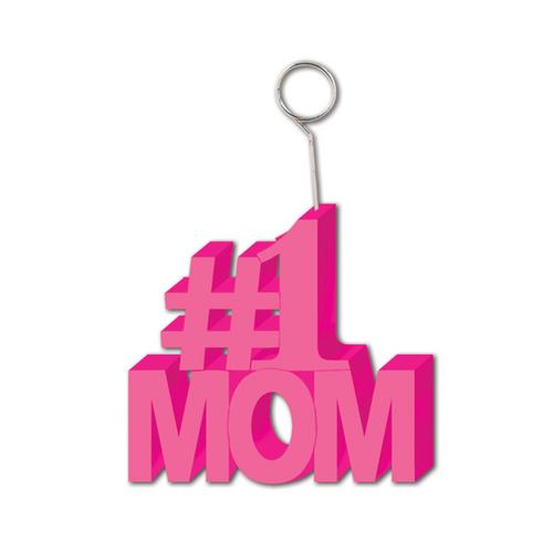 Case of [12] #1 Mom Photo/Balloon Holder