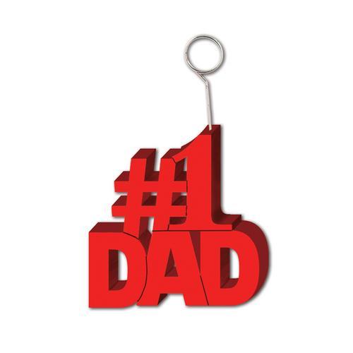 Case of [12] #1 Dad Photo/Balloon Holder