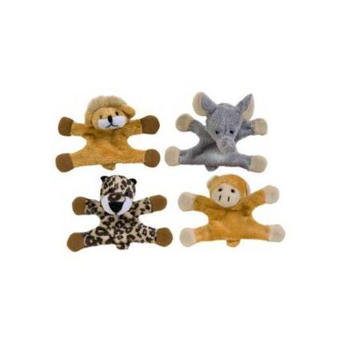 "Case of [12] 4"" Jungle Locker Buddies Plush Toy - Assorted Styles"