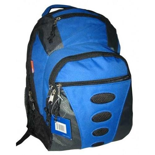"""Case of [24] 16.5"""" Premium 600D Polyester Backpack - Brown/Gray"""