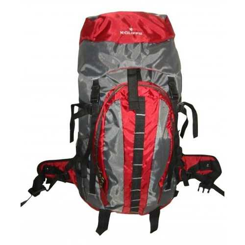 "Case of [10] Hiking Backpack w/Internal Frame, 25.5""x17.5""x6"", Maroon/Grey"