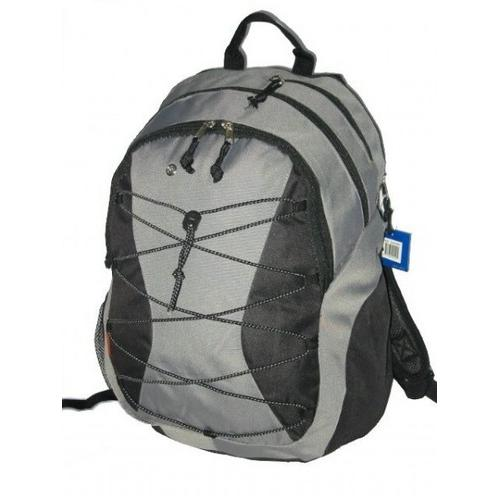 """Case of [24] 18"""" Classic Bungee Backpack - Grey"""