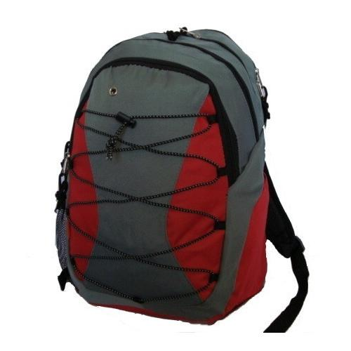 """Case of [24] 18"""" Classic Bungee Backpack - Red"""