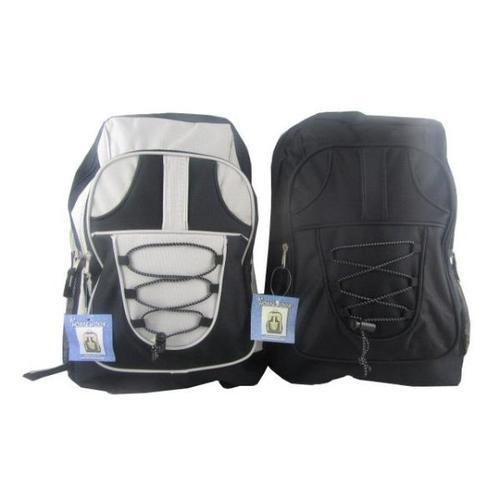 "Case of [12] 17"" Classic Bungee Backpack - 3 Assorted Colors"