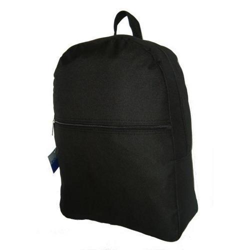 """Case of [50] 17"""" Basic Black Backpack"""
