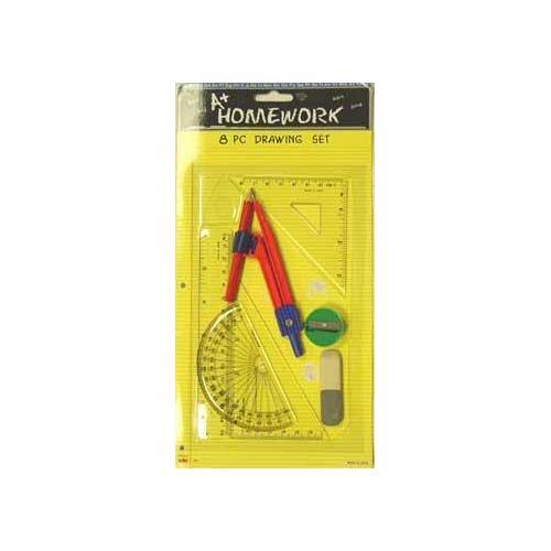 Case of [48] Math & Drawing set - 8 asst. tools