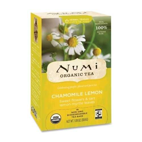 Case of [4] NUMI Organic Tea Herbal Tea, Organic, 18 Bags/BX, Chamomile Lemon