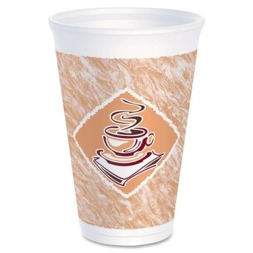 Case of [1000] Dart Container Corp. Foam Cups, 12 oz., 1000/CT