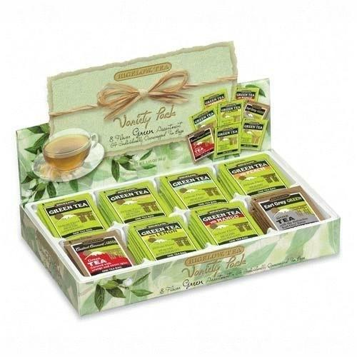 Case of [2] Bigelow Tea Company Green Tea Tray, 8 Assorted Teas, 64/BX