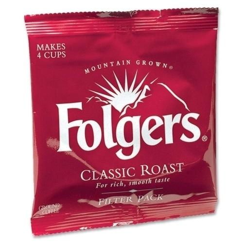Case of [1] Folgers Coffee Filterpacks, Regular, 9 oz, 160/CT