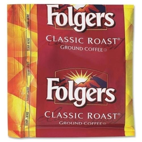 Case of [1] Folgers Coffee Classic Roast, .9 oz, 36/PK, Dark Brown