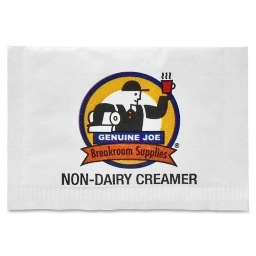 Case of [2] Genuine Joe Non-Dairy Creamer Packets, 800/PK, White
