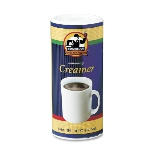 Case of [4] Genuine Joe Creamer, Non-Dairy, Reclosable Lid, 12 oz., 3/PK
