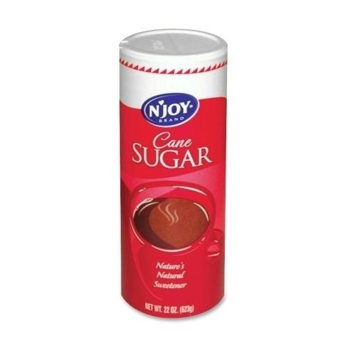 Case of [10] Sugar Foods Corp Pure Cane Sugar In Canister, 20 oz Canister, 1/PK