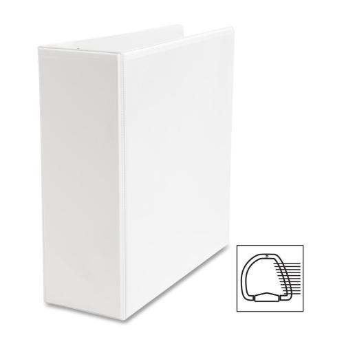 "Case of [3] Business Source D-Ring Binder, w/ Pockets, 4"" Capacity, White"