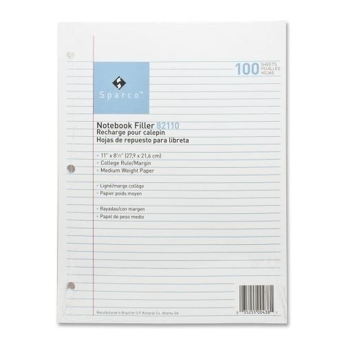 Case of [10] Filler Paper College Ruled - 100 Sheets