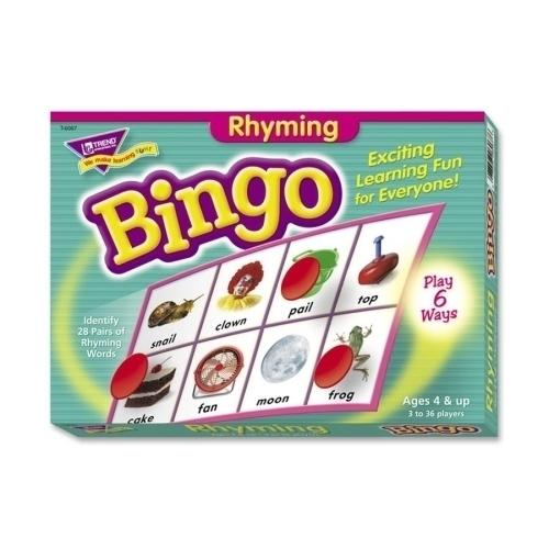 Case of [3] Trend Enterprises Rhyming Bingo Game, Includes 36 Playing Cards/Over200 Chips