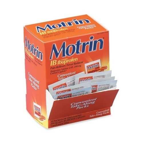 Case of [100] Motrin IB - 2 Caplets Count