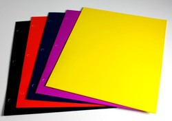 """Case of [100] Heavy Weight Gloss 2 Pocket Folder - Assorted Colors - 9"""" x 11.5"""""""