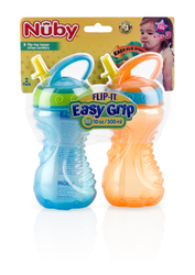 Case of [24] Nuby? Flip-and-Tip Hard Straw Cup 10 oz 2-Pack