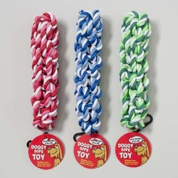 Category: Dropship Pet Supplies, SKU #1178825, Title: Case of [78] Rope Twist Dog Toy 7.5 Inch