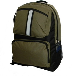 """Case of [30] 17"""" Classic Reflective Backpack - Olive Green"""