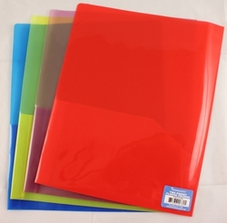 "Case of [100] Plastic 2 Pocket Folder - Assorted Colors - 8.5"" x 11"""