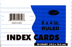 """Case of [72] Index Cards - Ruled - 50 count - 4"""" x 6"""""""