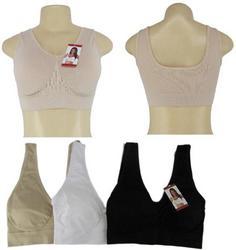 Case of [6] Women's Seamless Nude Sport Bra - Size Medium