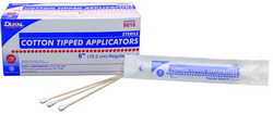 """Case of [10] Dukal 6"""" Cotton Tipped Applicators - 2 Pack"""
