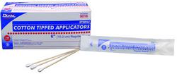 "Case of [10] Dukal 6"" Sterile Cotton Tipped Applicators - Plastic Shaft, 2-Pack"