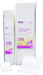 "Case of [10] Dukal Reflections? 4"" x 4"" Beauty Wipes - 4 ply, 200 Count"