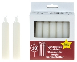 Case of [48] Unscented Taper Candles - White