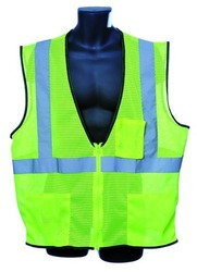 Case of [10] Class II Zipper Front Green Safety Vest 4XL