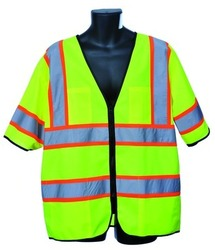 Case of [10] Green Class III Safety Vest 4XL