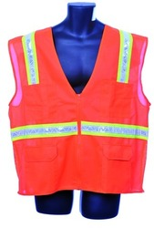 Case of [10] Orange Surveyor Vest- Mesh Back Large