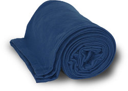 """Case of [24] Deluxe Heavyweight Sweatshirt Blanket 50"""" x 60"""" - Navy"""