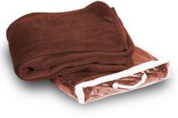 Case of [24] Micro-Plush Fleece Blanket - Cocoa