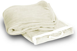 Case of [24] Micro-Plush Fleece Blanket- Cream