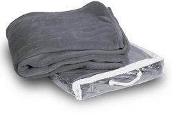 Case of [24] Micro-Plush Fleece Blanket - Gray