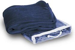 Case of [24] Micro-Plush Fleece Blanket - Navy