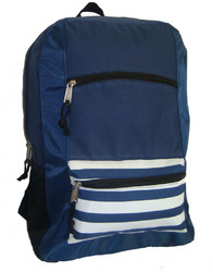 """Case of [40] 18"""" Classic Striped Front Backpack- Black"""