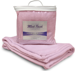 Case of [48] Mink Touch Baby Blanket - Soft Pink